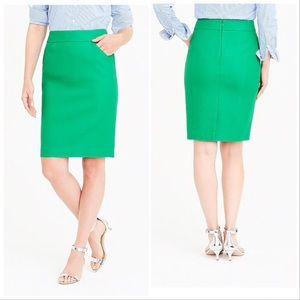 J. Crew The Pencil Skirt Green